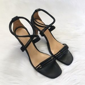 Terra Plana Black Ankle Wrap Heels